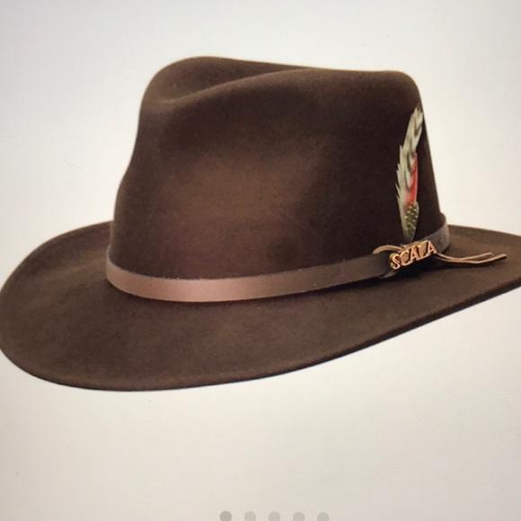 a8c4a99a59d8b Scala Wool - Felt Dakota Water Repellant Hat -NWT